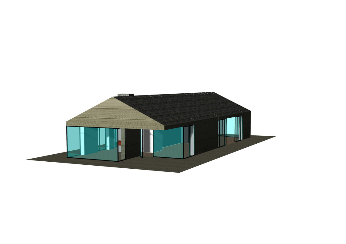 beach cottage 3D model