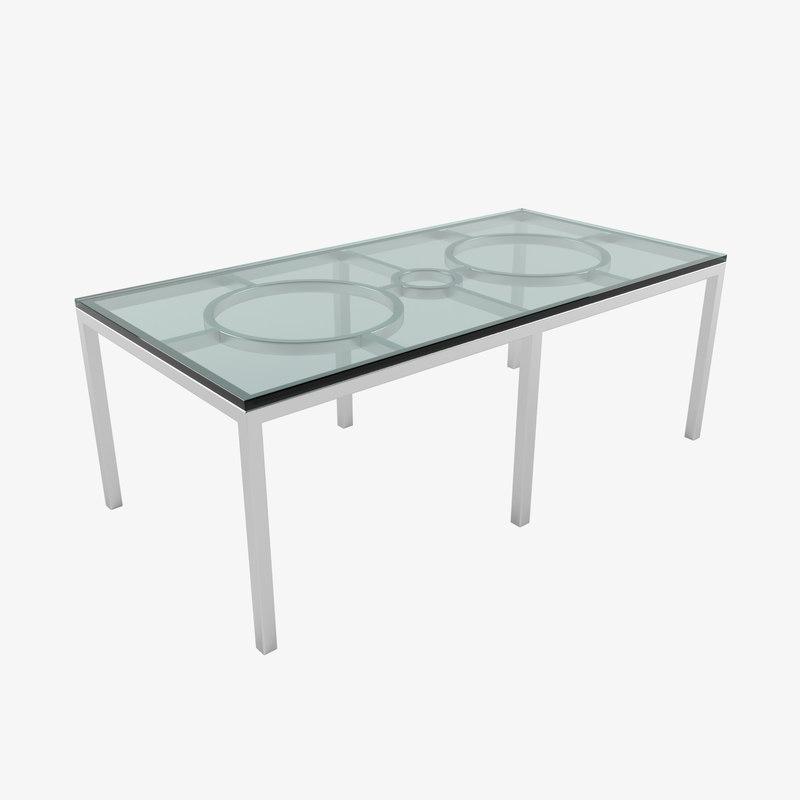 circle square table 3D model