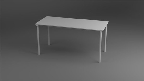 rigged foldable table desk model