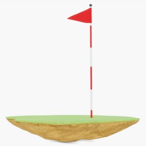 3D model hole golf