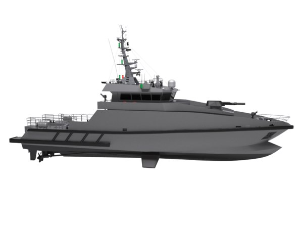 3D model modern coast patrol boat