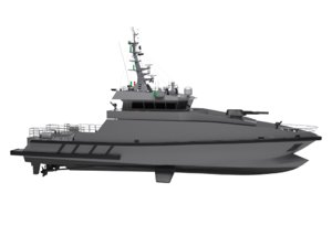 3D model modern coast patrol boat