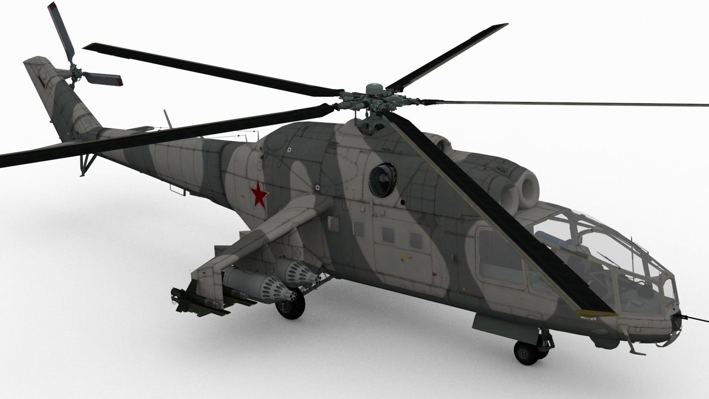 mil mi-24a 3D model