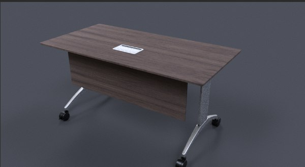 3D desk cover open close