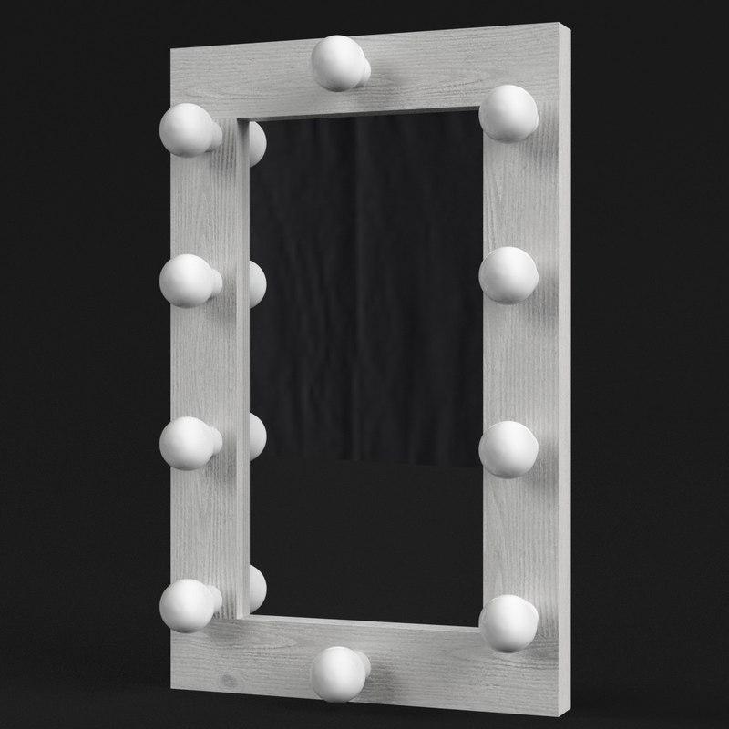 simple make-up mirror 3D model