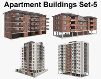 Apartment Buildings Set_5