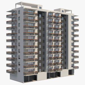 3D apartment building 23
