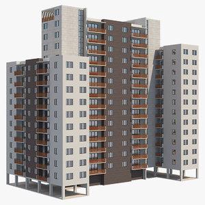 3D apartment building 24
