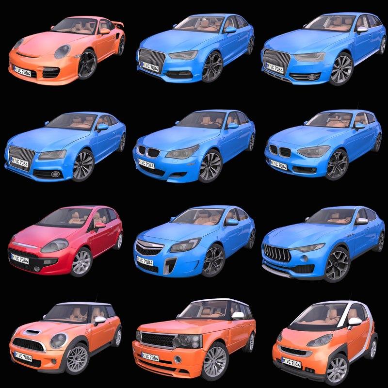 3D model pack 12 generic european