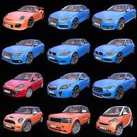 Pack of 12 Generic European cars