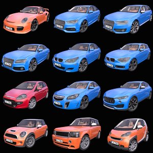 3D model pack 12 generic european