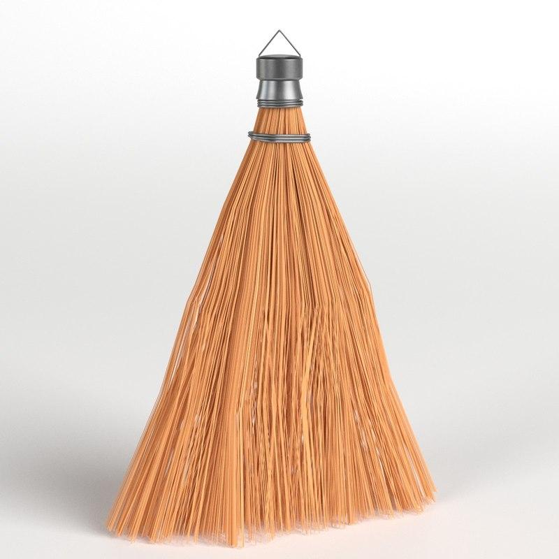 3D model whisk broom