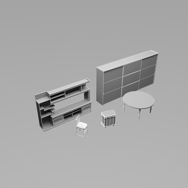 chair shelf 3D model