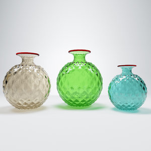 3D vase murano glasses