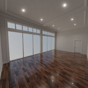3D model modern interior scene