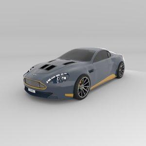 3D aston martin vantage v12 model