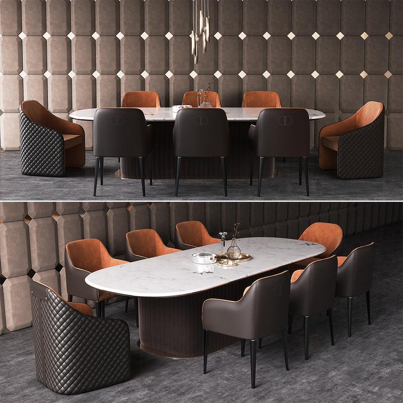 dining group daytona signorini 3D model