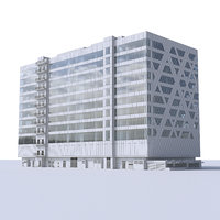 business centre building 3D model