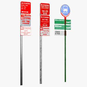 street signs model