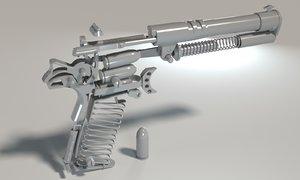 assembly colt m1911a1 pistol 3D model