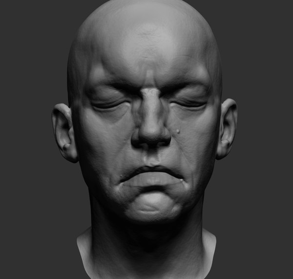 head ztl zbrush 3D