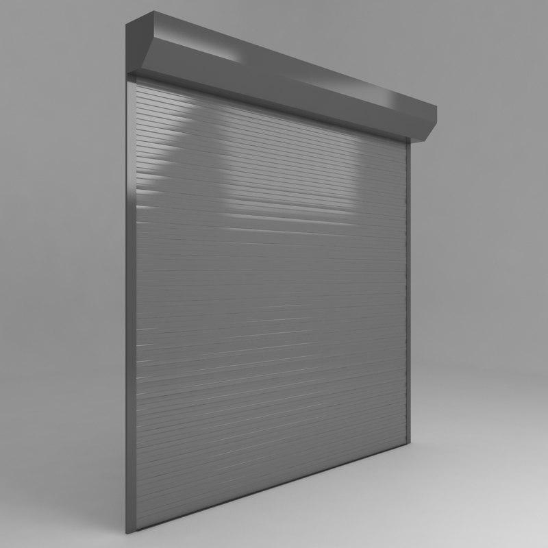 3D store garage door