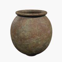 clay pot 3D