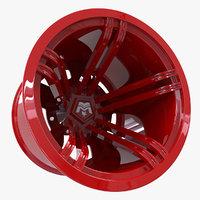 3d rim wheel bustt model