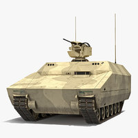 Lynx IFV Desert Rigged 3D Model