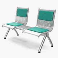 metal seats shelf 3D model