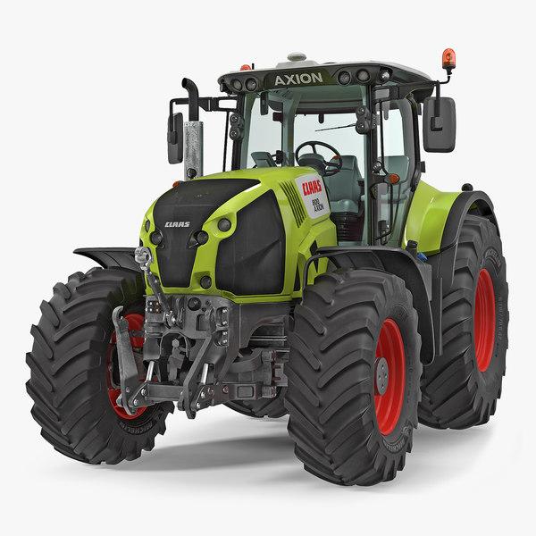 3D tractor claas axion interior model