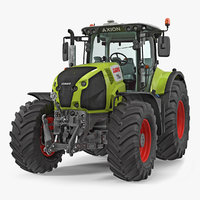 3D tractor claas axion interior model