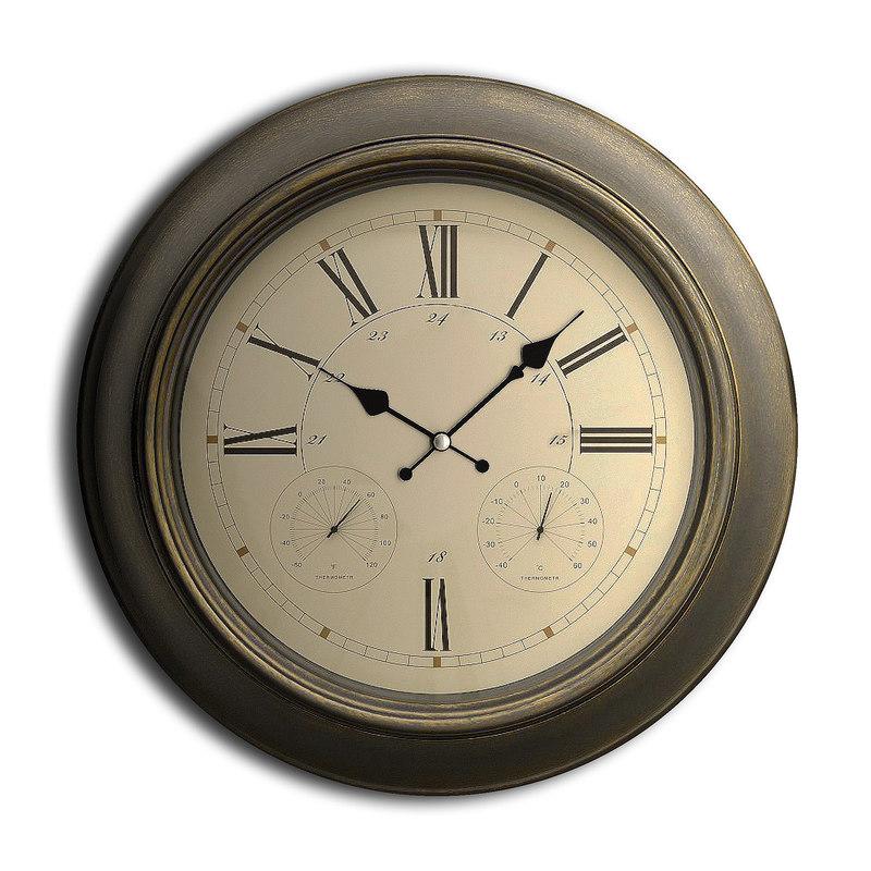 3D wall clock set 09 model