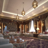 3D interior scene living room