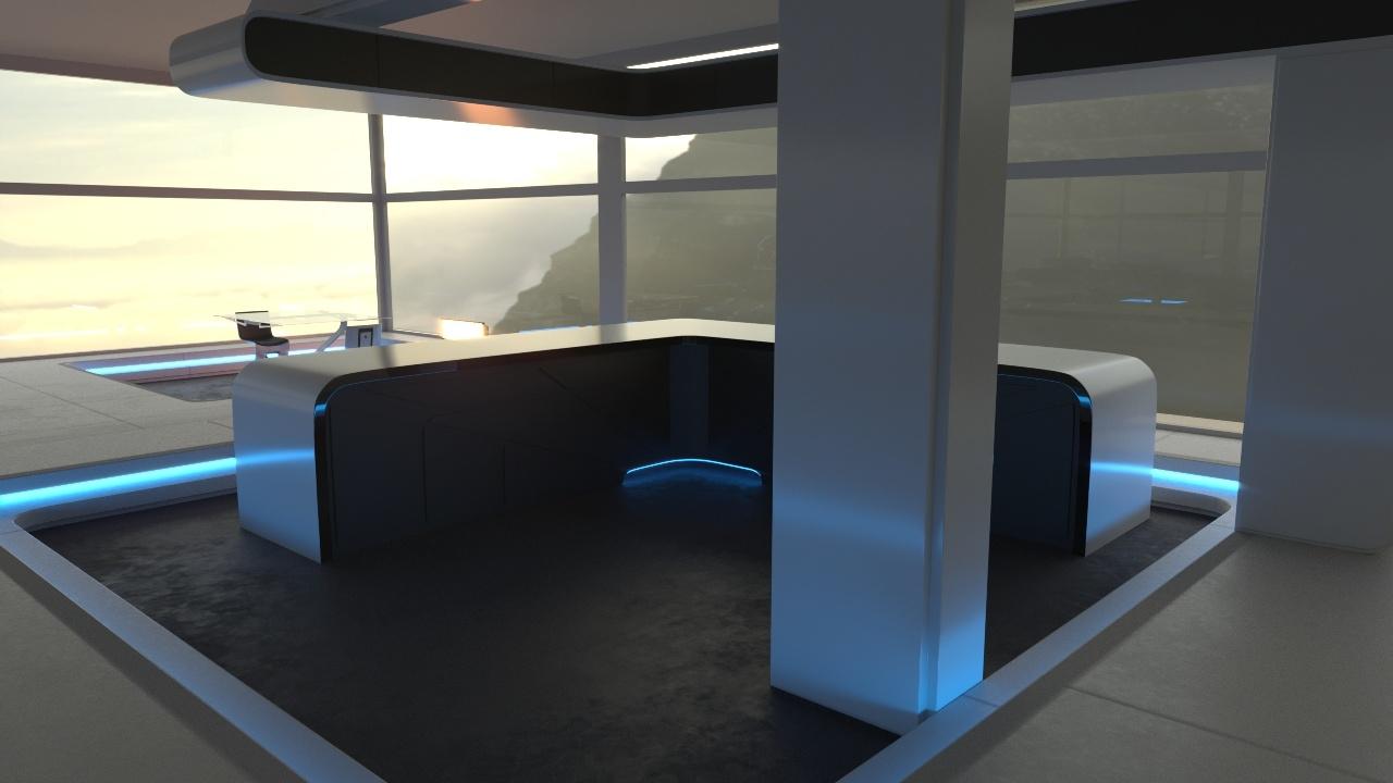 3D futuristic interior oblivion