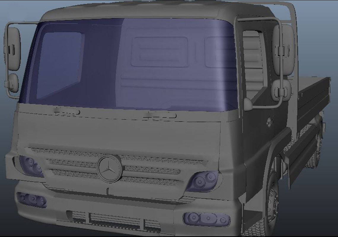 truck created 2017 3D model