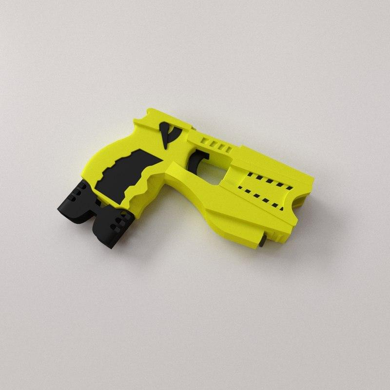 3D taser gun