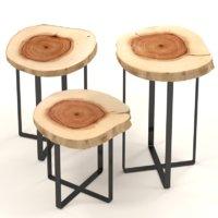 coffee tables slabs 3D model