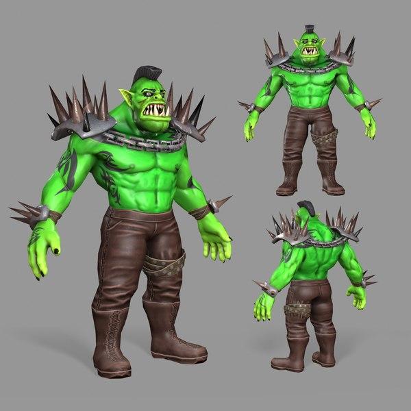 3D real orc model