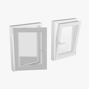 pvc window 60x80 3D model