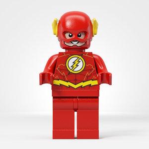 lego flash minifigures 3D model