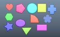 3D shapes animation mathematics model