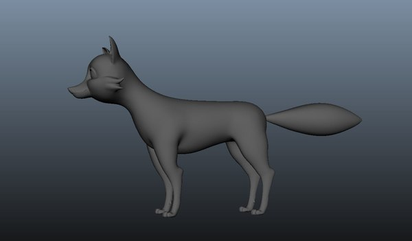 3D fox charatcer