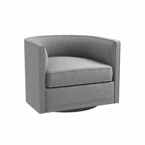 chair custom grey swivel 3D