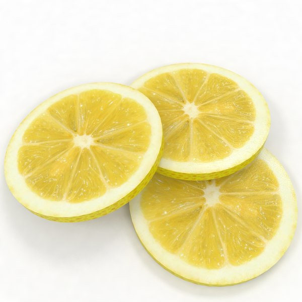 lemon lime slice fruit 3D