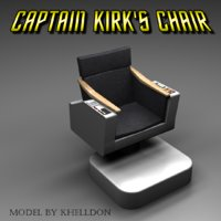 captain kirks chair 3D model