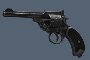 3D webley revolver