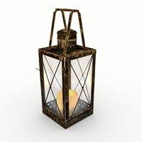 3D vintage lantern lights