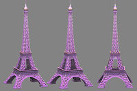 Eiffel low poly textured