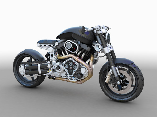 3D model confederate hellcat motorcycle